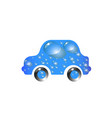 toy car blue color in drops of water the most top vector image vector image