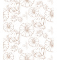 turkey and pumpkins pattern line art decor vector image
