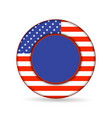 united state of america flag on button vector image vector image