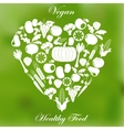 Vegan healthy organic food vector image