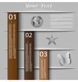 vintage design with banners website presentation vector image