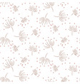 vintage light floral seamless pattern with hand vector image vector image