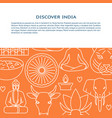 visit india concept banner template in thin line vector image vector image
