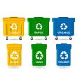 waste bin set vector image