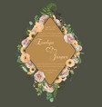 wedding vertical floral invitation invite card vector image