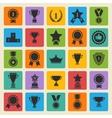 Big set black avards icons vector image