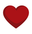 red love heart gift romance icon vector image