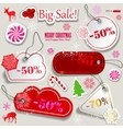 christmas sale paper discount coupons vector image
