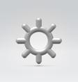 Silver metallic settings wheel icon vector image