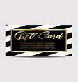 gift card layout template vector image