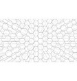 abstract background hexagons outline vector image