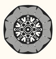 abstract round symmetrical pattern vector image vector image