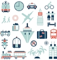 Airplane Train Helicopter vector image
