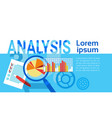 analysis data statistics finance graph financial vector image vector image