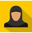 Arabic woman icon flat style vector image vector image