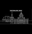 bern silhouette skyline switzerland - bern vector image