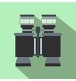 Black binoculars flat icon vector image vector image