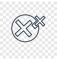 cancel concept linear icon isolated on vector image