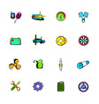 car service maintenance icons set cartoon vector image vector image