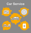 car service station promotion flat banner template vector image vector image