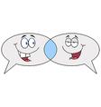 Cartoon Speech Bubbles Speak vector image