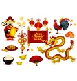 Chinese New Year greeting poster design vector image