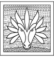Chinese zodiac sign Dragon vector image