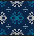 christmas abstract knitted pattern christmas vector image