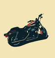 classic motorcycle isolated vector image