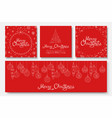 collection beautiful merry christmas vector image
