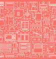 commercial kitchen equipment seamless pattern in vector image