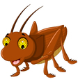cute grasshopper cartoon for you design vector image vector image