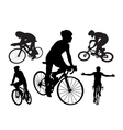 Cyclists vector image