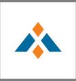 design concept letter a triangle vector image