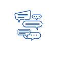 dialog line icon concept dialog flat vector image