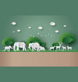 eco concept and world wildlife day vector image vector image