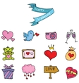Element valentine day collection stock vector image vector image