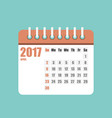 flat calendar year 2017 set vector image