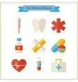Flat Medical Objects Set vector image vector image