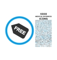 Free Sticker Rounded Icon with 1000 Bonus Icons vector image vector image