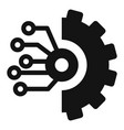 gear smart ai icon simple style vector image vector image