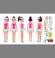 girl tennis player sport uniform players vector image vector image