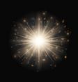 glittering golden background vector image vector image