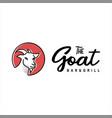 goat logo animal face cartoon vector image vector image