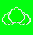 green clouds vector image vector image