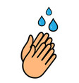 healthy washing hands medical surgery personal vector image vector image
