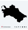 High detailed map of Turkmenistan with navigation vector image vector image