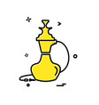 hookah icon design vector image