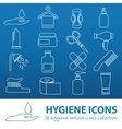 hygiene outline icons vector image vector image