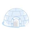 Ice house igloo vector image vector image